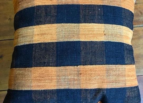 Vintage Kilim Pillow - Wicker Check