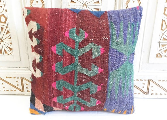 Vintage Kilim Pillow -Rustic bright