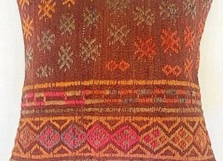 Vintage Kilim Pillow Cover - Nomad sunrise Design 40cm x 40cm