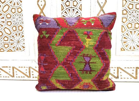 Vintage Kilim Throw Pillow - Anatolian Boho