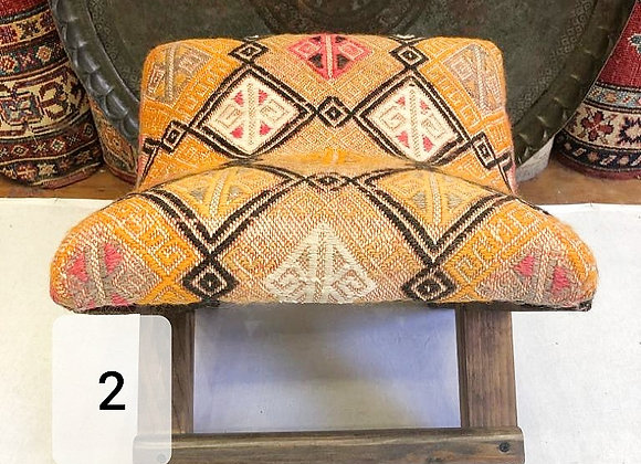 Handmade Turkish Teahouse Stool - Saffron dream