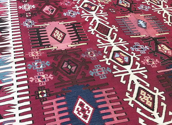 Exquisite Reyhanli Kilim                                                Antique