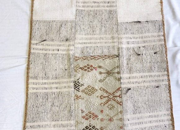 Vintage Nomadic Patchwork Rug - with Tassels No 4
