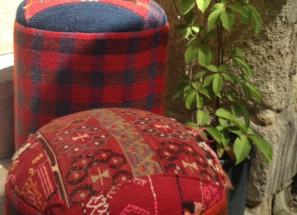 Buy one or buy them both ! Vintage Kilim Pouf