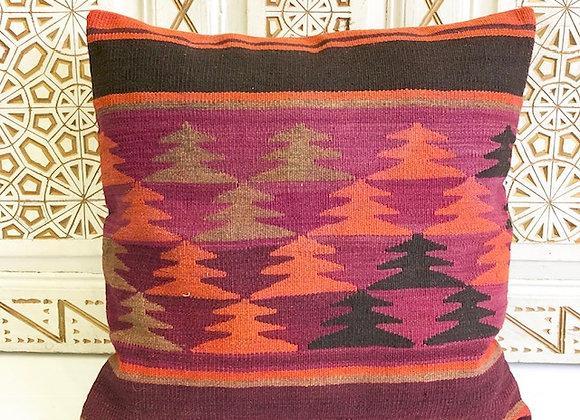 Vintage Kilim Pillow - Purple Dream