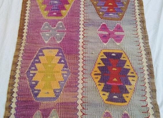 Vintage Boho Nomad Kilim - Small size