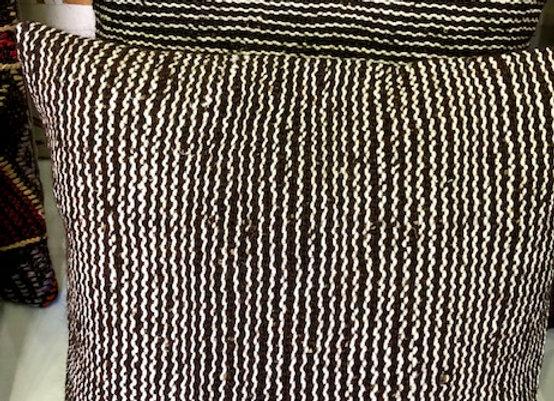 Vintage Kilim Pillow- Undyed wool stripe