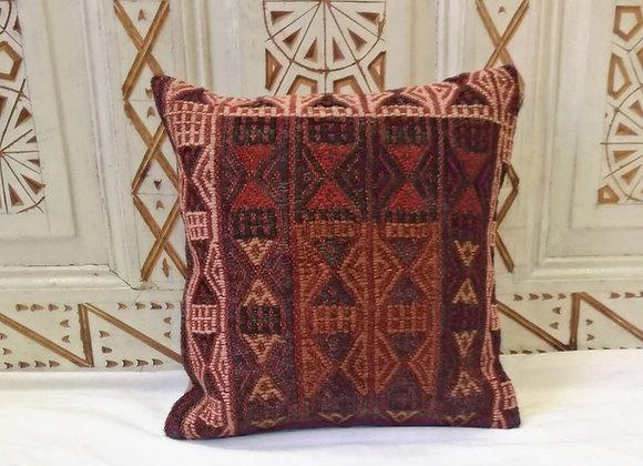 Vintage Turkish Boho Pillow         40x40cm   ' Red Bark '