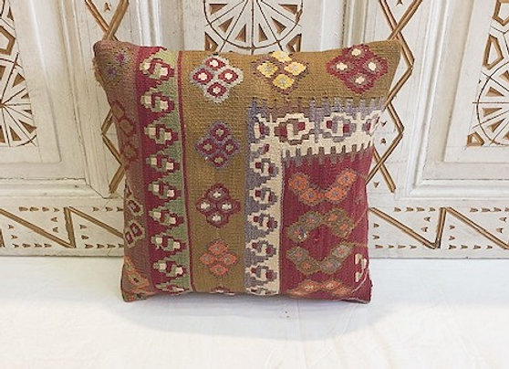 Vintage Turkish Boho Pillow         40x40cm Anatolian flower (2)