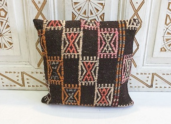 Vintage Turkish Boho Pillow      Nomad  Dark &Pastel