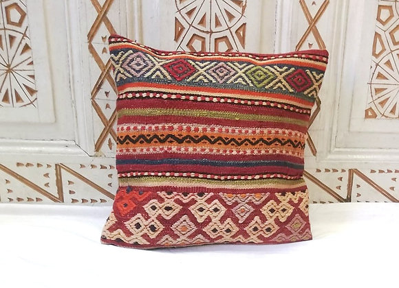 Vintage Turkish Boho Pillow                            40x40cm  Nomad Texture