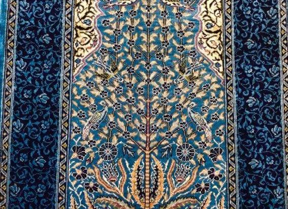 Kayseri Pure Silk Carpet - 100 handmade. Tree of Life design