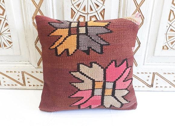 Vintage Kilim Pillow - 40x40cm  Flower Storm