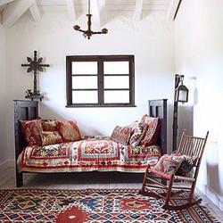 Awesome bedroom boho #turkishkilim #kili