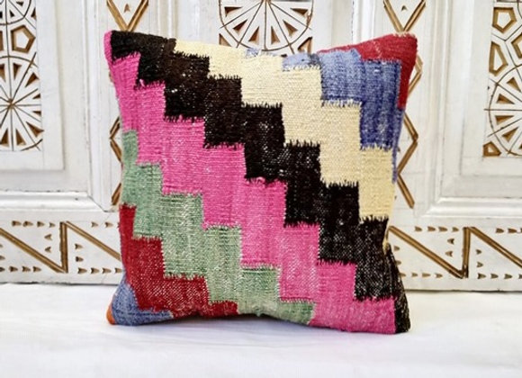 Vintage Turkish Boho Pillow       Bright & Bold/pink