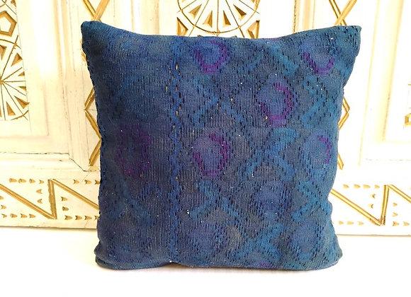 Vintage Kilim Pillow           Indigo overdye
