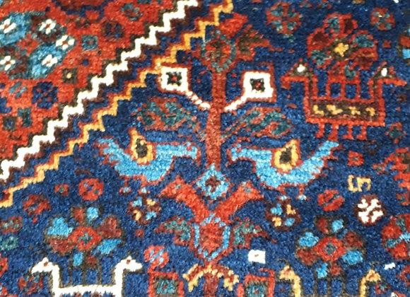 Vintage Tribal Shiraz Carpet - Autumn and Blue