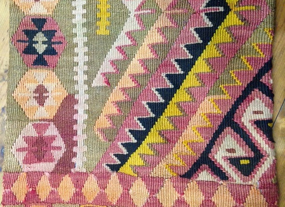 Subtle Vintage Kilim Throw pillow