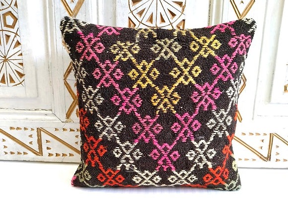 Boho Kilim Pillow -Nomad Flower