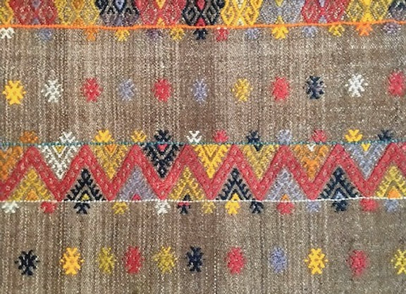 Unique Vintage Tribal Kilim - Turkey