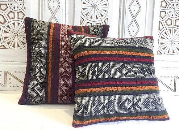 Turkish Kilim Pillow /Blue                                              40x40 cm