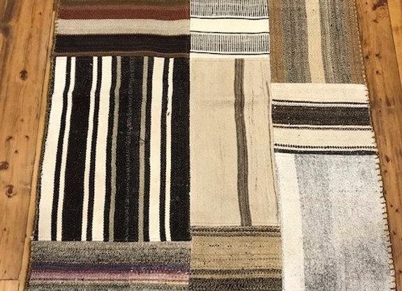 Vintage Patchwork Kilim Rug -On trend naturals