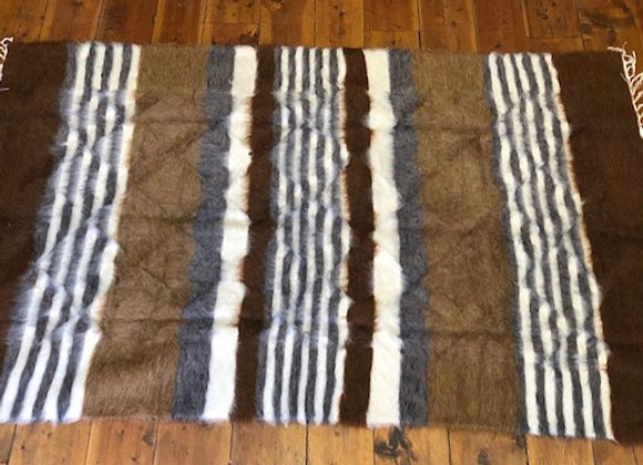 Kurdish Angora Handwoven Kilim - natural wools
