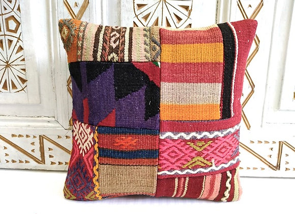 Turkish Kilim Cushion 40 x 40 cm - Patchwork