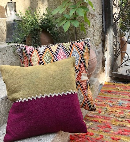 Vintage kilim throw pillows