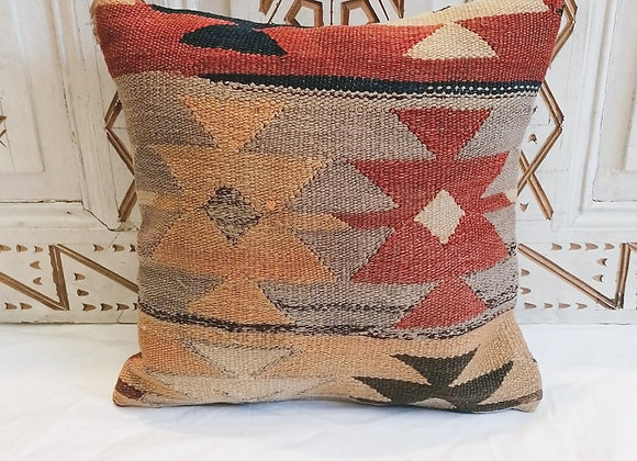 Vintage Kilim Pillow                                           40x40cm Boho Star