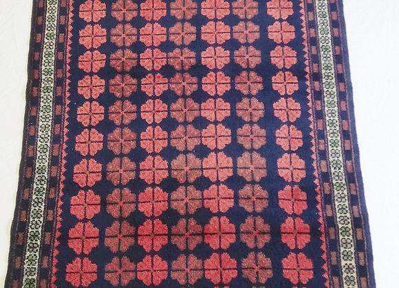 Vintage Turkish Dowry Rug  - Repeat Flowers