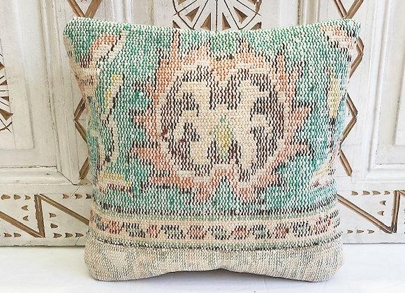 Vintage Turkish Boho Pillow             Vintage Turquoise(2)