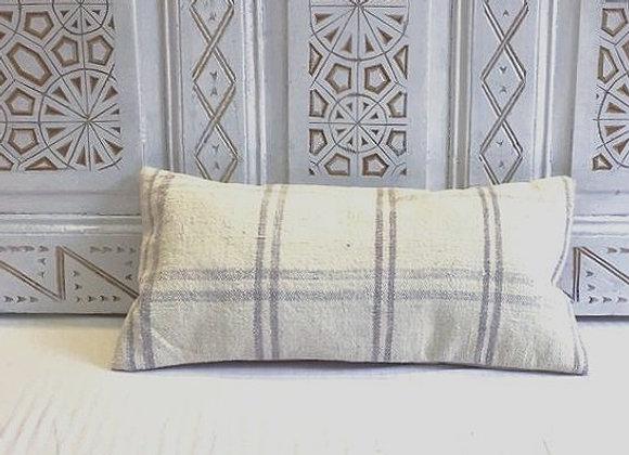 Turkish Kilim Pillow /Grey                                              60x30 cm