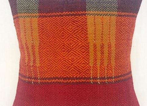VintageTurkish Kilim Cushion -Nomadic textured