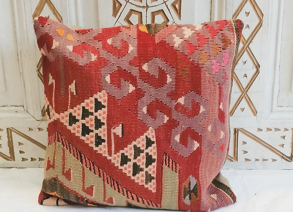 Vintage Turkish Boho Pillow                              40x40cm Sunset Garden