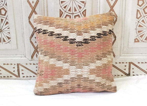 Vintage Kilim Pillow         40 x 40 cm              'Textured Desert'