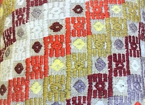Vintage Kilim Pillow - Textured Chic