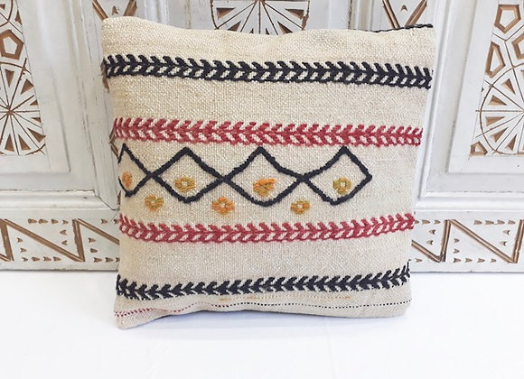 Vintage Kilim Pillow -40x40cm Natural funk