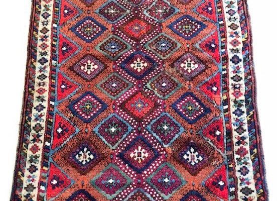 Antique Malatya Kurd Carpet - Superb colors !