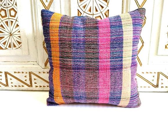 Vintage Kilim Pillow / Cushion           40 x 40 cm  'Ribbons'