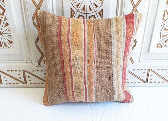 Vintage Kilim Pillow - Subtle stripe