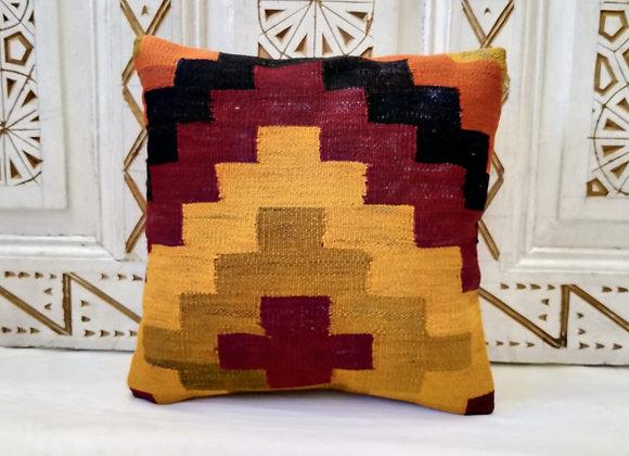 Vintage Kilim Pillow      Graphic Autumn Steps