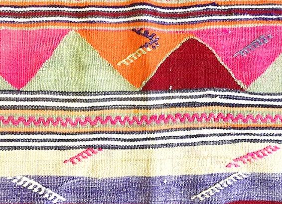 Vintage Turkish Dowry Kilim - Boho Pink