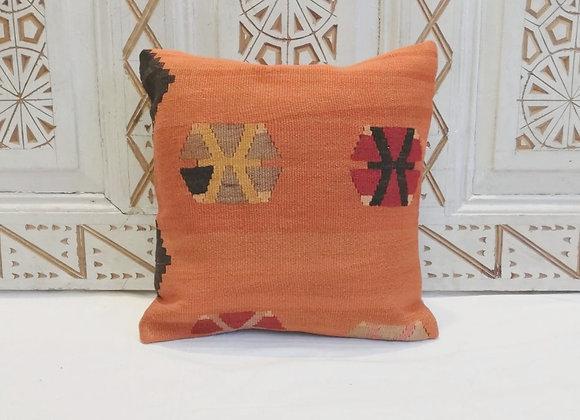 Vintage Turkish Boho Pillow                              40x40cm    Orange crush