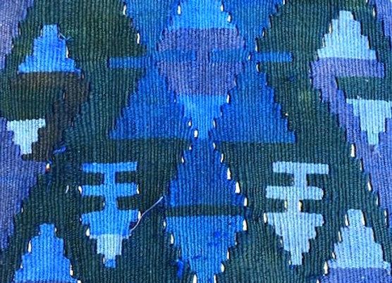 Vintage Kayseri Kilim - Overdye Multi Blue