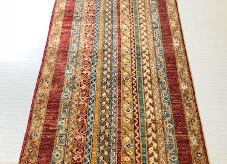 Contemporary Hall Runner - Suzani Rug Collection /Multi Stripe