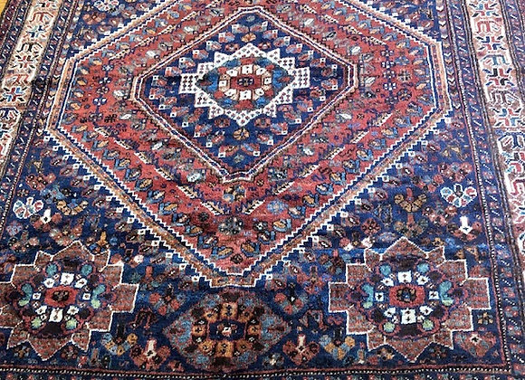 Antique Tribal Qhasqai Shiraz Rug - Iran