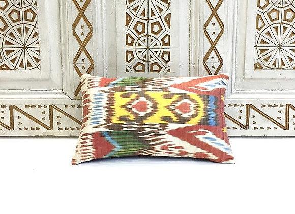 Handwoven IKAT Pillow                                              Silk & Cotton