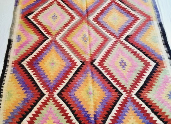 Vintage Turkish Nomad Kilim - Bright + bold + Boho