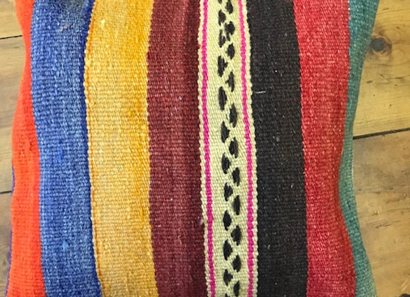 Vintage Kilim Pillow - Summer stripe